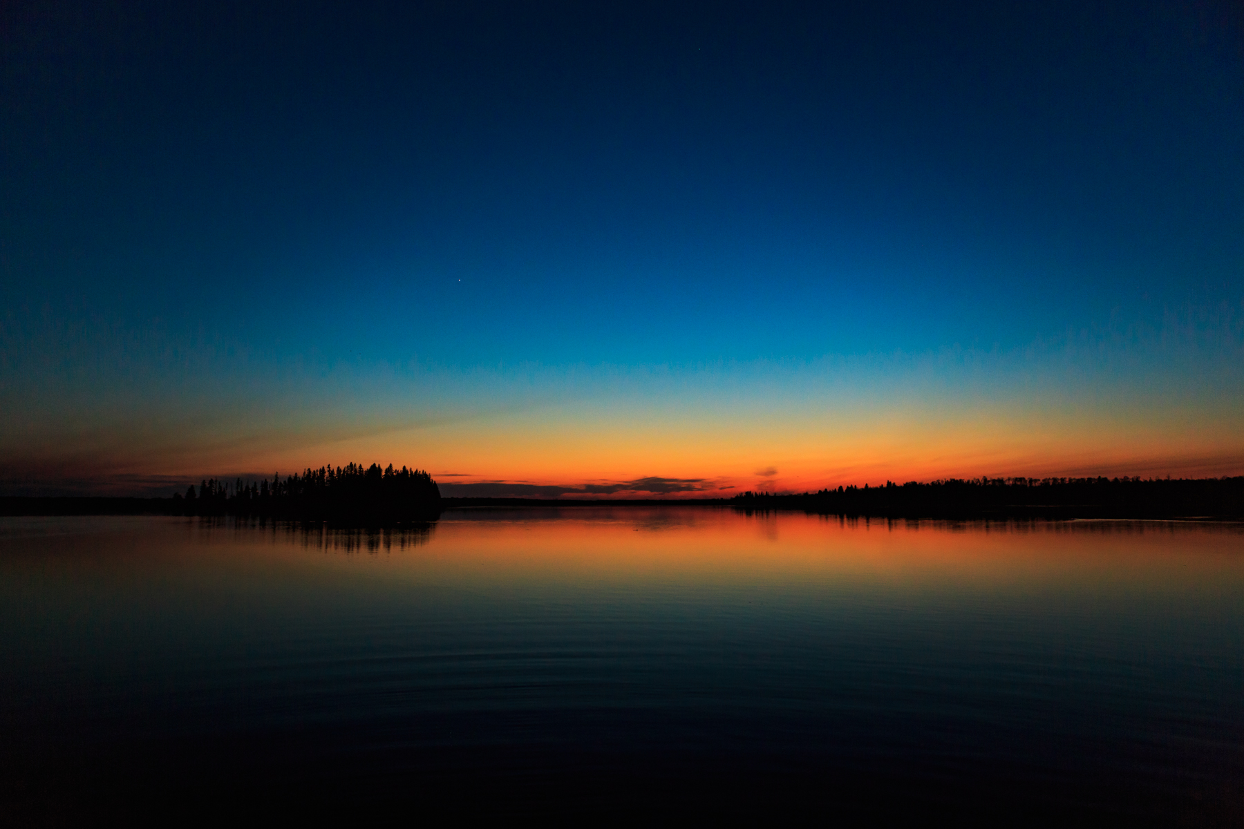 Sunset Astotin Lake Elk Island National Park Alberta