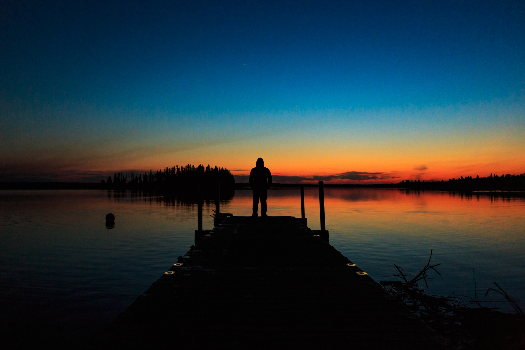 Sunset at Astotin Lake - Elk Island National Park, Alberta - Tracey Sawatzky, Adventure Photographer